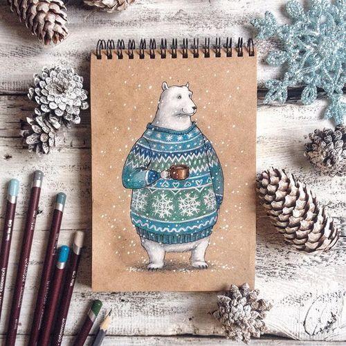 животные-арт-медведь-рождественские Favim.com-3799717