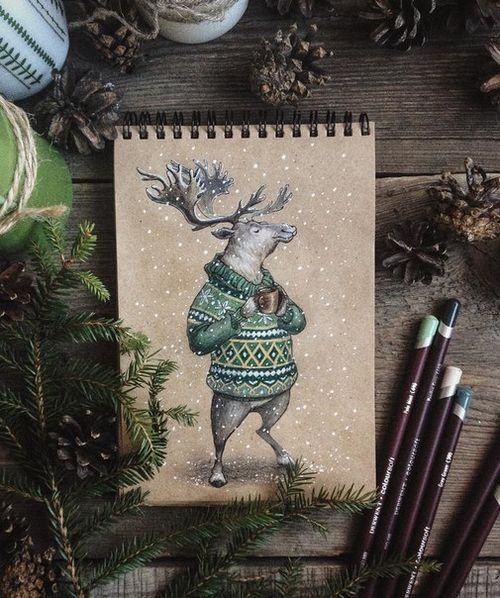 животные-арт-рождественские олени-Favim.com-3799728