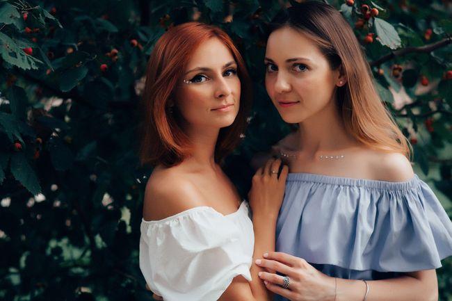 Слева направо: Юля, Галя
